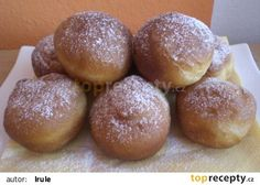 Šlehačkové koblihy recept - TopRecepty.cz Slovak Recipes, Czech Recipes, Eastern European Recipes, Thing 1, Pretzel Bites, No Bake Cake, Sweet Recipes, Food And Drink, Lunch