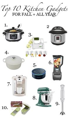 My Top 10 Favorite Kitchen Gadgets For Fall + All Year!,My Top 10 Favorite Kitchen Gadgets For Fall + All Year! - Simple Stylings - www. - kitchen accessory must-haves Crucial kitchen gadget. Kitchen Furniture, Kitchen Decor, Kitchen Ideas, Kitchen Interior, Dream Furniture, Kitchen Hacks, Must Have Kitchen Gadgets, Kitchen Tops, Kitchen Stuff