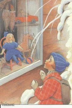 Rudolf Koivu Merry Little Christmas, Vintage Christmas Cards, Christmas Art, Christmas Ideas, Children's Book Illustration, Book Illustrations, Frosty The Snowmen, Winter Theme, Little People
