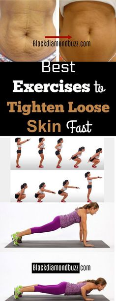 Best Exercises to Tighten Loose Skin Fast After Weight Loss - These are ways how to get rid of loose skin after weight loss without surgery at home to try. #looseskin #exercises
