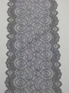 Gray lace table runner 7 wedding table by WeddingTableRunners
