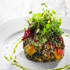 Quinoa and Roasted Vegetable Patty - http://begoodorganics.com/blogs/begoodness/9553665-quinoa-and-roasted-vegetable-patty