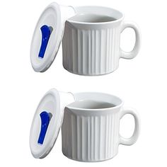 CorningWare Colours PopIns 20oz Soup Mug with Lid  2 Pack French White -- Click on the image for additional details.
