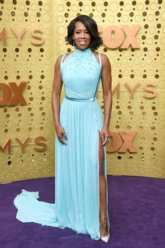 Regina King in Jason Wu attends the Emmy Awards in L. Baby Blue Dresses, Red Carpet Dresses, Nice Dresses, Regina King, Naomi Watts, Lela Rose, Christian Siriano, Gwyneth Paltrow, Jason Wu