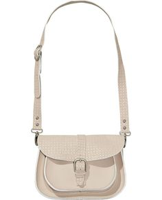 Perforated Leather Satchel Bag