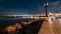 Il lungomare di Bari in notturna Bari, Scene, Water, Outdoor, Italy, Fotografia, Gripe Water, Outdoors, The Great Outdoors