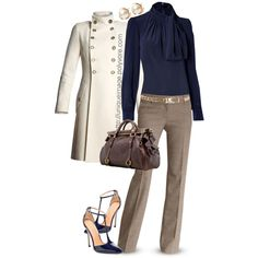 """""""Navy Top & Navy Heels"""" by uniqueimage on Polyvore"""