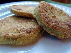 fried green tomatoes #vegetarian