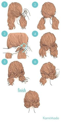 wedding hairstyles easy hairstyles hairstyles for school hairstyles diy hairstyles for round faces p Cute Simple Hairstyles, Pretty Hairstyles, Hair Hacks, New Hair, Braided Hairstyles, Two Buns Hairstyle, Wedding Hairstyles, 5 Minute Hairstyles, Quinceanera Hairstyles