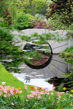 The Sun Bridge - Dow Gardens, Midland, MI  #Photo courtesy of: KC Photography