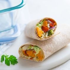 Easy Brown Rice & Veggie Wrap - EatingWell.com