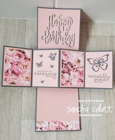 Stampin' Up! Creative Birthday Cards, Birthday Cards For Women, Handmade Birthday Cards, Happy Birthday Cards, Birthday Greeting Cards, Handmade Cards, Z Cards, Fun Fold Cards, Pop Up Cards