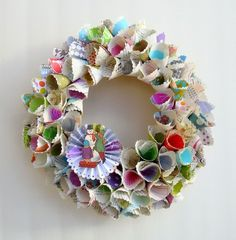 More vintage paper wreaths