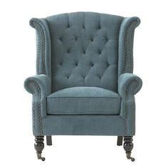 Milo Wing Chair - Wingback Chairs - Upholstered Chairs | HomeDecorators.com