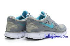 official photos 1c09c f3d8d Billig Schuhe Damen Nike Free Run + (Farbe Vamp-grau,innenlogo-blau Sohle-weiB)  Online in Deutschland.