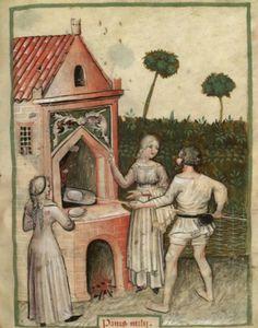 Bakery, The Tacuinum Sanitas , Late 14th C.