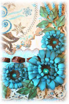 What A Beautiful Mess: Blue Daze Flower Tutorial