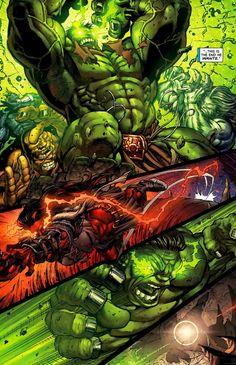 #Hulk #Fan #Art. (World War Hulk – The Immortal Iron Hulk) By: Ed McGuinness. ÅWESOMENESS!!!™ ÅÅÅ+