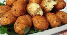 Τραγανές κροκέτες μπακαλιάρου Les Croquettes, Papier Absorbant, Crunch, Baked Potato, Food And Drink, Potatoes, Cooking Recipes, Fish, Baking