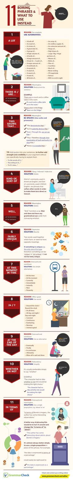 11 Boring Phrases & What to Use Instead (Infographic)