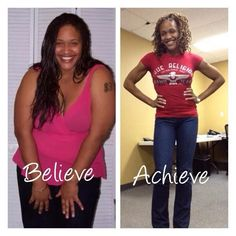 Motivational story! Her gorgeous body is strong not skinny. Read black women weight loss transformations and before and after fitness inspiration at TheWeighWeWere.com. Gym, yoga and natural hair styles for classy African American plus size women looking for clothes, exercise work outs, outfits and body training products for curves, legs and life #yogabeforeandafter