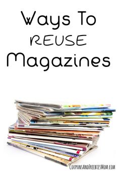 6 Fun and Easy Ways to Reuse Magazines (and save money)! Keep your kids entertained and having fun for hours with these simple ideas to repurpose old magazines! Fun ideas and ways to stretch your budget too! Check it out now!