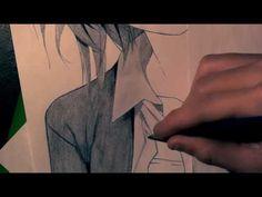 short haired girl - manga drawing HD
