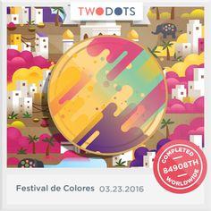 Encontré la Rupia Arcoiris en el Festival de Colores. ¡Súmate ya! - playtwo.do/ts #TwoDots