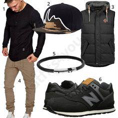 Lässiges Outfit mit Weste, Armband und Sneakern