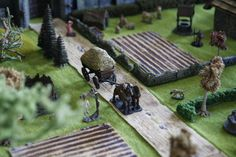 Routes, champs, Table dwarven forge, rpg terrain, diorama 28mm, figurines, miniatures