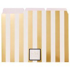 Kate Spade Gold Stripe File Folders