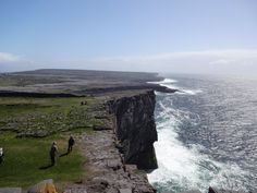 View from Dun Aengus Fort on Inishmore island, Ireland.  Breathtaking!   Photo: bestnorwegian.com