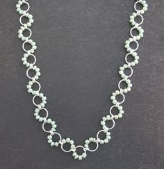 Light Green Chainmaille Necklace by campbellcreation