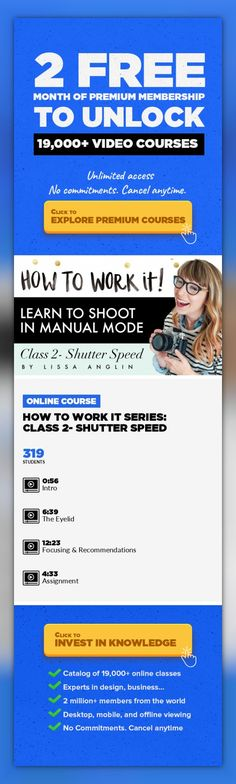 How To Work It Series: Class 2- Shutter Speed Photography, Digital Photography, Fashion Photography, Portrait Photography, Dslr, Creative, Camera, Manual Mode, Photographer #onlinecourses #onlineuniversitybest #learningcalligraphy   This is the 2nd course in the How To Work It Series. To start from the beginning, check out How To Work It Series- Class 1: Aperture This How To Work It Seriesis for...