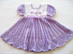 Crochet Pattern for Baby Girl Dress PDF by ThePatternParadise