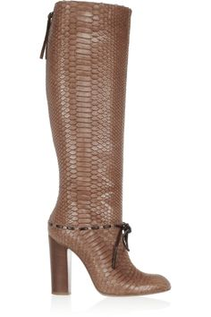 Python knee boots  by Chloé