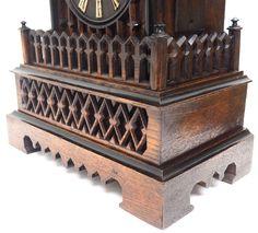 Rare Gallery Cuckoo Mantel Clock – German Black Forest Carved Bracket Clock   767624   Sellingantiques.co.uk Antique Mantle Clock, Antique Photos, Black Forest, Wine Rack, German, Carving, Antiques, Gallery, Old Pictures
