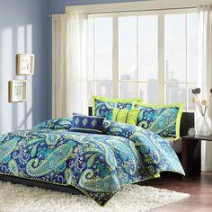 Maya 5 Piece Comforter Set - Blue ( Full/Queen )