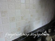 easy and inexpensive kitchen backsplash, home decor, kitchen backsplashes,  kitchen design, wipeable washable wallpaper
