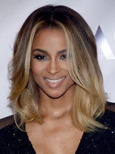 Ciara Ombre Medium Hairstyle 2013 | Popular Haircuts