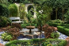 Overlook into Moorish garden by Joyous!, via Flick...I love this! The landscaping is done very well.