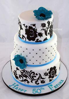 50th birthday cake by Carla's Cake Creations, via Flickr