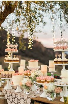 68 ideas bridal shower cake table ideas dessert buffet for 2019 Candybar Wedding, Wedding Desserts, Wedding Decorations, Wedding Dessert Buffet, Pink Dessert Tables, Wedding Favors, Cupcake Wedding Cakes, Outdoor Dessert Table, Vintage Dessert Tables