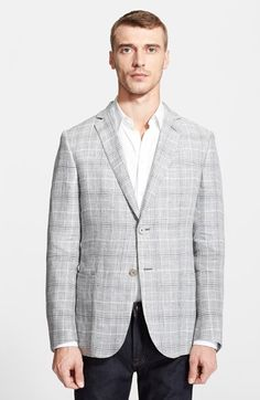 Z Zegna Plaid Linen Sportcoat available at #Nordstrom