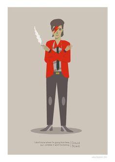 David Bowie by Judy Kaufmann