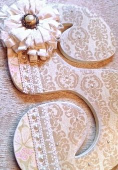 Custom Wooden Nursery Letters  Baby Girl Nursery by TheRuggedPearl, $15.75