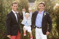 Absolutely precious photo of grooms with their baby! | Katie Kaizer Photography