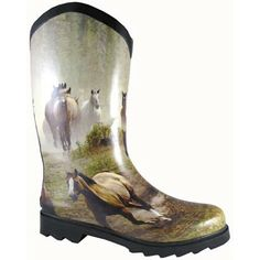 Smoky Mountain Ladies Rubber Boots with Wide Calf and Rain and Muck Boots | EQUESTRIAN COLLECTIONS.COM