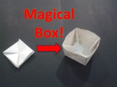 Origami Collapsible Box / Coin Purse - YouTube