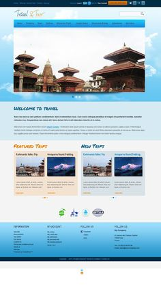 Travel and Tour  (PSD Web Template)